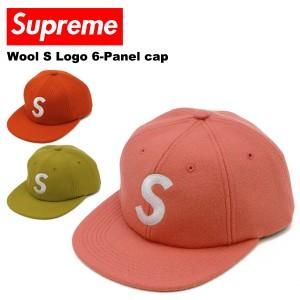 【送料無料】シュプリーム(SUPREME)Wool S Logo 6-Panel cap キャップ/帽子[BB]
