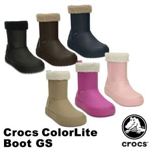 【送料無料対象外】クロックス(CROCS) クロックス カラーライト ブーツ GS【子供用】[BB]