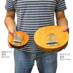 アジアの楽器 ココナッツ カリンバ 木彫り トカゲ模様 ブラック 直径15cm アジアン バリ タイ 雑貨 椰子の実 マリンバ 民族 演奏
