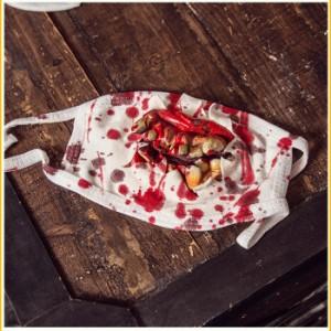 【送料無料】マスクゾンビ【ゆうパケット2】ハロウィン 小道具 プチ仮装 衣装 グループ 仮面 怖い パーティーグッズ