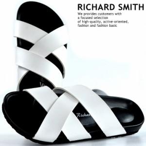 49af96ae4abc7b RICHARD SMITH サンダル メンズ コンフォートサンダル 靴 シューズ シャワーサンダル サボサンダル Y_KO 8964 ホワイト  190330