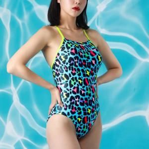 JKUSS ジェイコス 競泳水着 レディース スリムフィット ハイカット JC2WKO0447 / ブルー