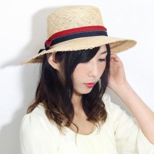 BROOKLYN HAT ストローハット レディース つば広ハット 天然素材 麦わら帽子 ワイドブリム 日よけ