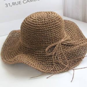 麦わら帽子 レディース 人気 ストロー 麦わら帽子 つば広 ハット