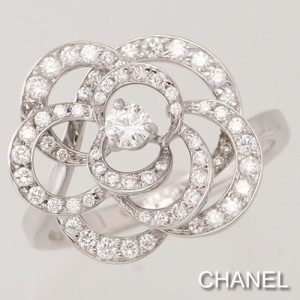 3453094c7919 新品仕上げ済☆シャネル カメリアコレクション ホワイトゴールド ダイヤモンド リング CHANEL 指輪 ジュエリー アクセサリー レディース