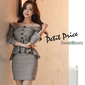 1574d96b10f15 キャバ ドレス キャバドレス ワンピース S M L LL 韓国 インポートドレス  richチェック柄 タイト