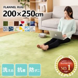 ラグ 3畳 カーペット ラグマット マット 洗える フランネルラグ 3帖 200×250cm FNR-S-2025 ラグマット 洗える おしゃれ カーペット シン