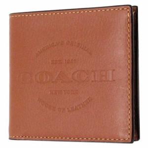 918b0b8cb8f6 コーチ 財布 COACH アウトレット メンズ カーフ レザー ダブルビルフォード ウォレット / 二つ折り財布 F24647