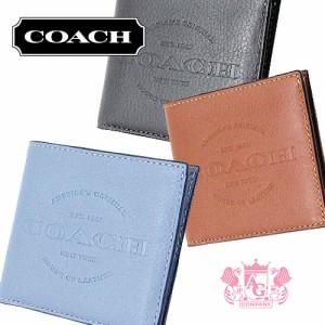 dee2d1040835 コーチ財布COACHアウトレットメンズカーフレザーダブルビルフォードウォレット/二つ折り財布F24647