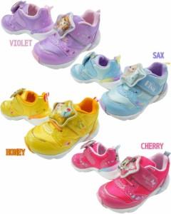 44b61e74797fe キッズ ジュニア 女の子 スニーカー 運動靴 ディズニー Disney C1226 プリンセス ベルクロ LED搭載 光る靴 ソフィア アナ雪 エルサ