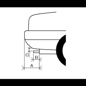 マフラーカッター 「AX001B」 ダイハツ タントエグゼ
