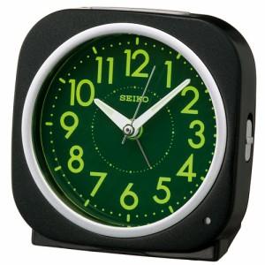 セイコークロック スタンダード クォーツ 目覚まし時計 KR889K ブラック 黒 電子音アラーム アナログ 目覚し めざまし とけい
