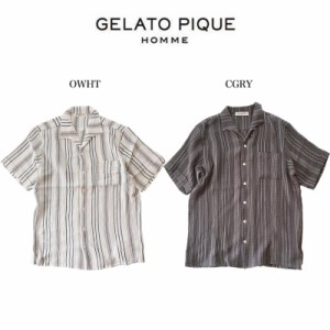 SALE20%OFF GELATO PIQUE HOMME ジェラートピケオム パジャマ 通販 HOMME 刺し子半袖シャツ pmft204925 ジェラピケ メンズ 部屋着