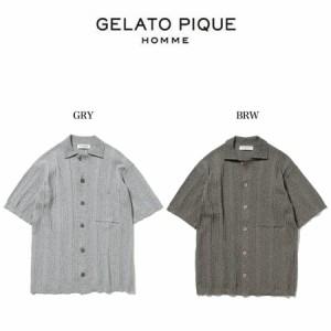 SALE20%OFF GELATO PIQUE HOMME ジェラートピケオム 通販 メンズ リブメランジモコシャツ pmnt211920 ジェラピケ メンズ ルームウェアー
