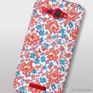 HTC J butterfly HTL21 ハードケースフラワー htl21_r072_009