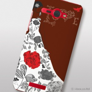 HTL21 HTC J butterfly ハードケース★フラワー☆htl21_a19_589