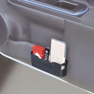 小物入れカーボン調ポケット 軟質素材 コインポケット付き Lサイズ/セイワ:W865