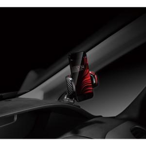 スマホホルダー スマートフォンホルダー 車 クイック ダッシュボード 貼付け カーボン調 メタリックレッド/カーメイト SA20