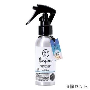 【6個セット】G.r.i.m. ルームミスト アイランドブルー スプレー 消臭剤 芳香剤 車 部屋/ノル OA-GRM-1-2
