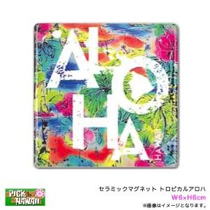 96250393b2236 PICK The HAWAII セラミックマグネット トロピカルアロハ W6×H6cm 磁石 インテリア ハワイアン雑貨 お土産
