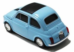送料無料 AUTOMOUSE オートマウス FIAT NUOVA 500 ブルーフィアット ヌォーヴァ型ワイヤレスマウス 2.4GHz
