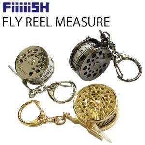 ゆうパケット対応2個迄 FiiiiiSH フライリールメジャーテープ 釣り具型メジャー 手巻きタイプ