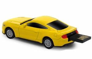 送料無料 AUTODRIVE オートドライブ8GB フォード マスタング2015 イエローUSBメモリー