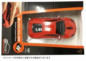 送料無料 AUTOMOUSE オートマウス AVENTADOR オレンジ ランボルギーニアヴェンタドール型ワイヤレスマウス 2.4GHz