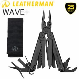 送料無料 25年保証 LEATHERMAN レザーマン WAVE PLUS BLACK ウェーブ プラス ブラック 17機能マルチツール 正規輸入代理店品