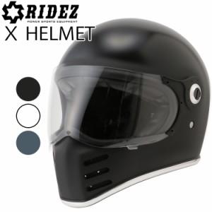 RIDEZ ライズ Xヘルメット(クロスヘルメット) ネオクラシックフルフェイス SG規格