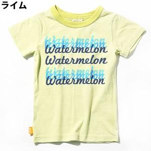 子供服 [背中スイカロゴプリント半袖Tシャツ カットソー] M1-4