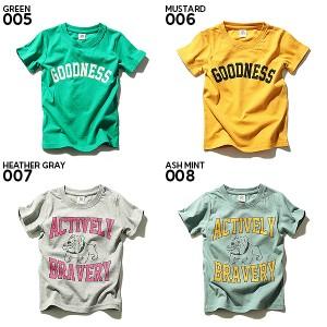 子供服 Tシャツ キッズ 韓国子供服 男の子 女の子 [全20柄 ロゴプリント半袖Tシャツ カットソー 綿100%] トップス ×送料無料 M1-4