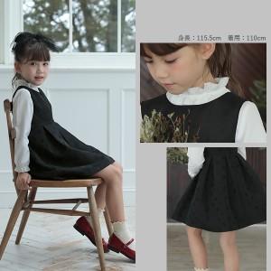 0b53f002710be 子供服 ワンピース キッズ 韓国子供服  ドットジャガーワンピース 女の子 ワンピース ブラック  M0-0 ×送料無料