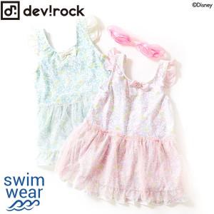 6a919fc38c2d5 子供服 水着 キッズ 韓国子供服  Disney アリエル 花柄ワンピース 女の子 水着 UV