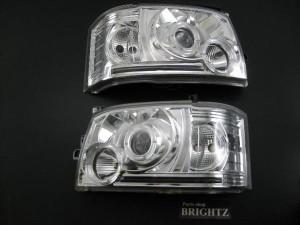 BRIGHTZ ハイエース 200 HIACE TRH214W TRH219W TRH224W TRH229W イカリング付プロジェクターヘッドライト本体 Aタイプ  HEAD−H−006