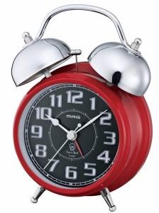 """""""時計 目覚まし時計 ツインベル アラーム T-447-R レッド 時計【激安】【SALE】"""""""