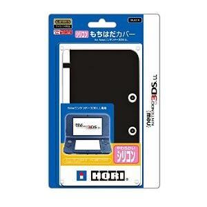 【+6月19日発送★新品★送料無料メール便】New 3DSLL周辺機器 シリコンもちはだカバー for NEW ニンテンドー3DS LL ブラック