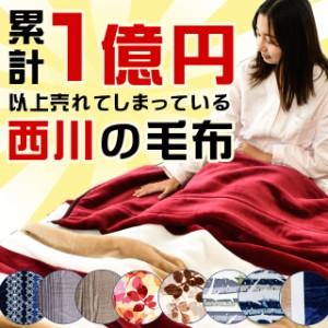 毛布 東京西川 衿付き 2枚合わせ マイヤー毛布 シングル 140×200cm 約1.8kg あったか 1億円毛布 掛け毛布 西川 ふっくら