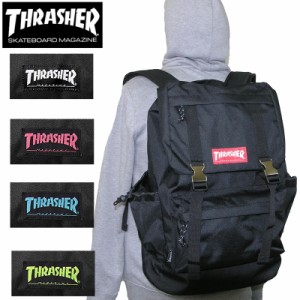 7e0e174f5af4 送料無料 THRASHER スラッシャー THRRM501 バッグ フラップ 型 リュックサック かぶせリュック バックパック