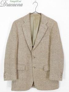 古着 ジャケット 80s wynn's × Harris Tweed ハリス ツイード ウール テーラード ジャケット 38位 古着