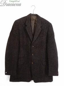 古着 ジャケット 50-60s 英国製 DAKS × Harris Tweed ハリス ビンテージ ツイード テーラード ジャケット 38位 美品!! 古着