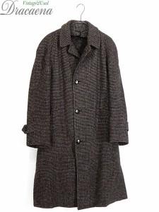 古着 コート 50-60s STAFFER'S × Harris Tweed ハリス ツイード ウール ステンカラー ロング コート 42位 美品!! 古着