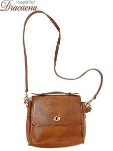 997ad747155d 古着 バッグ USA製 OLD COACH コーチ レザー 2way スクエア ショルダー バッグ 中型 キャメル ブランド 雑貨