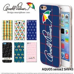 AQUOS sense2 SHV43 ケース スマホケース au アクオス カバー デザイン アーノルドパーマー arnold palmer