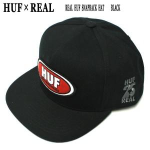 72b67fe8aa3f HUF/ハフ × REAL/リアル コラボ REAL HUF SNAPBACK HAT BLACK CAP/キャップ