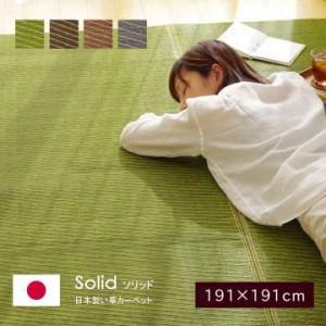い草ラグ ラグ カーペット Fソリッド 191 × 191   cm  イケヒコ 日本製 ラグ い草カーペット い草 ラグ カーペット   日本製 い草 和