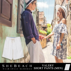ハーフパンツ メンズ 単品 ビーチパンツ 短パン 韓国 ファッション SHEBEACH シービーチ 男性用 お洒落 インポート カジュアル 大人