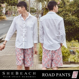 メンズ ハーフパンツ 単品 大人 韓国 SHEBEACH シービーチ かっこいい おしゃれ ショートパンツ ショーパン 短パン 男性用 花柄