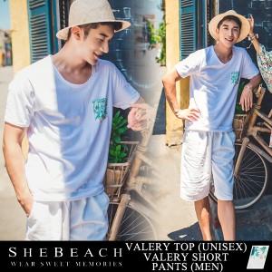 即納 メンズ 半袖 Tシャツ ハーフパンツ 2点セット 韓国 SHEBEACH シービーチ 短パン 大人 上品 かっこいい ショートパンツ 男性用