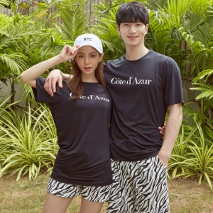水着の上に着る Tシャツ 半袖 ラッシュガード レディース メンズ 韓国 シービーチ トップス シンプル おしゃれ かわいい 女性用 男性用